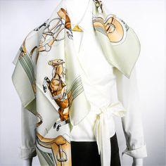 Authentic Vintage Hermes Silk Scarf Jumping NIB – Carre de Paris
