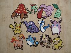 I used to love peeler beads. Pyssla Pokemon, Hama Beads Pokemon, Pokemon Craft, Nintendo Pokemon, Melty Bead Patterns, Pearler Bead Patterns, Perler Patterns, Beading Patterns, Pixel Art