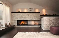 Wood-burning fireplace / contemporary / closed hearth / built-in - 720 COMPACT - Rüegg Cheminée Schweiz AG Inset Fireplace, Fireplace Design, Classic Fireplace, Modern Fireplace, Contemporary Fireplaces, Family Room Fireplace, Home Fireplace, Interior Design Living Room, Living Room Designs