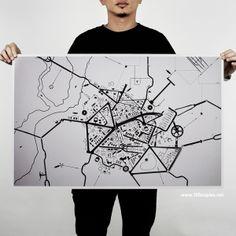 100copies  - Cityscape, Terrain & Road Map by Thomas Yang, via Behance