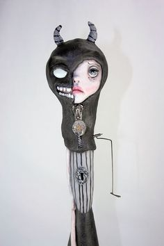 One of a Kind Pop Surrealism Art Doll Doubt by michelelynchart, $395.00