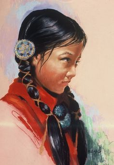 Indian Maiden by Mary Meiars