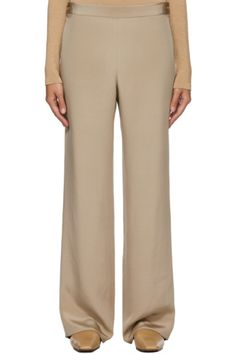 Designer Clothes, Shoes & Bags for Women   SSENSE Pink Punch Recipes, Satin Trousers, Uk Brands, Silk Satin, The Row, Taupe, Women Wear, Pajama Pants, Shopping