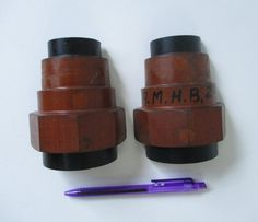 Foundry Mold Vintage 2 Piece Wood Wooden Industrial by HobbitHouse