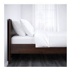 IKEA - BRUSALI, Bed frame, Full, Luröy, , Adjustable bed sides allow you to use mattresses of different thicknesses.16 slats of layer-glued birch adjust to your body weight and increase the suppleness of the mattress.