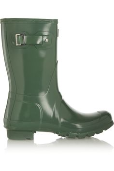 Shop Hunter Short Gloss Wellington Boots from stores. Low Heel Boots, Slip On Boots, Low Heels, Short Rain Boots, Hunter Original, Wellington Boot, Discount Designer Clothes, Hunter Boots, Clothes For Sale