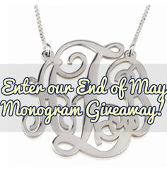 We know you love 'em, so here's your chance to win one! Enter to win any piece of customized monogram jewelry (earrings, bracelet, or necklace) in sterling silver or 24K gold.  After entering, there are bonus entries available.  Contest ends June 19th.  Don't forget to tell us on social media and in the comments which monogram you love and which one you would pick for yourself or someone special. :) Good luck southern belles and northern loves! <3 bird & bee