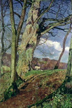 In Early Spring A Study in March, John William Inchbold. English (1830 - 1888)