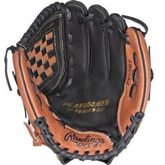 Rawlings Playmaker 12 Softball Gloves, Velcro Straps, Snug Fit, Bucket Bag, Athlete, Baseball, Leather, Bags