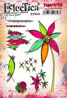 Innovative creativity from PaperArtsy. Paint, stencils, and techniques galore for any mixed media enthusiast to enjoy. Floral Doodle, Doodle Flowers, Drawing Flowers, Flower Doodles, Zentangle, Tracy Scott, Doodle Designs, Template, Art Journal Inspiration