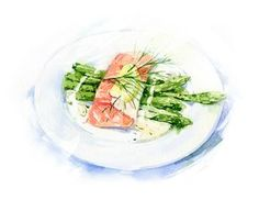 Food illustrations for Campus-cooking on Behance Dessert Illustration, Watercolor Illustration, Recipe Drawing, Food Sketch, Watercolor Food, Watercolour, Food Painting, Food Photography Tips, Food Backgrounds