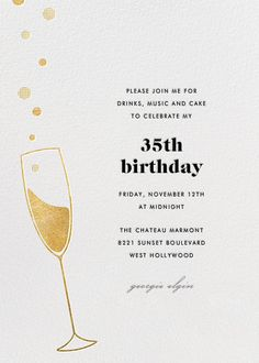 Champagne Bubbles New By Paperless Post Customize One Of Hundreds Online Birthday