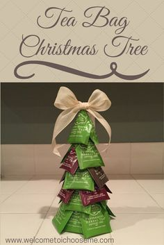 Tea Bag Christmas Tree - I Choose Me Learn how easy it is to make a Tree Bag Christmas Tree for the tea lover on your list. Download your Creativity Card and create your own giftable tree.