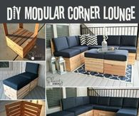 DIY Modular Corner Lounge