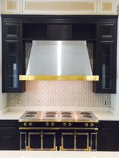 """Check out this eye catching honeycomb mosaic from Walker Zanger's """"Tangent"""" collection, chosen by designer Monica Melancon. A modern twist on a classic motif!"""