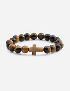 The tiger eye bracelet represents what Jesus went through to save us from sin. The bracelet is made with natural tiger eye stone. Elevate your faith with our men's and women's Christian bracelets today! Christian Bracelets, Christian Jewelry, Tiger Eye Bracelet, Eye Stone, Stone Bracelet, Bracelets For Men, Natural Stones, Faith, Eyes