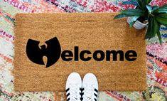Wu Tang Welcome Doormat, Wu Tang Doormat, Wu Tang Clan Doormat, Old School Hip Hop Doormat Friend Moving Away, Maroon 5 Lyrics, Boy Quotes, Movie Quotes, Hip Hop Quotes, Wu Tang Clan, Funny Doormats, Counting Stars, Long Distance Gifts