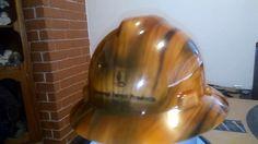 Fake wood hard hat