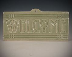 Welcome Tile  Arts & Crafts Mission  Craftsman by SeizPottery