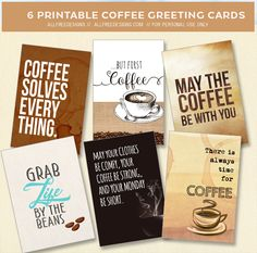 6 Free Coffee Cards
