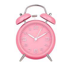 "Peakeep 4"" Twin Bell Pink Analog Alarm Clock Battery Operated - Loud Alarm Clock(Pink) Peakeep http://www.amazon.com/dp/B00WDPLJFK/ref=cm_sw_r_pi_dp_gRiCwb0TZAV28"