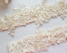 Wedding Garter bridal garter off white Lace by AnnaBridalBoutique