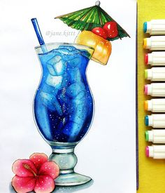 Иллюстрация под заказ - коктейль Голубые Гавайи   Illustration to order - cocktail Blue Hawaii   #art #creative #instaart #artist #illustration #leuchtturm1917 #copic #touchmarker #copicart #liner #markers #hatchsketch #Hawaii #coctail #drink #bluehawaii #drinks #topcreator #art_we_inspire #drawing #sketch #sketchbook #loneliestartplanet #artwork #иллюстрация #маркеры #скетчбук #скетч #рисунок #рисую