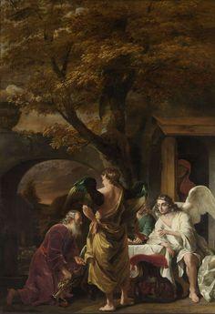Abraham ontvangt de drie engelen, Ferdinand Bol, 1655