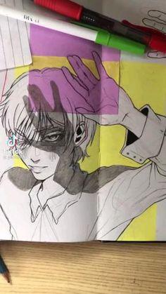 Art Drawings Sketches Simple, Cool Drawings, Anime Character Drawing, Arte Sketchbook, Diy Canvas Art, Cartoon Art Styles, Boy Art, Art Tutorials, Cute Art