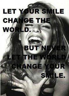 Never! #smile #love #shine #live #soul #spirit #happy #namaste #gratitude #fashionmagenet