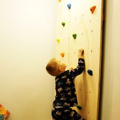 I've built climbing walls before, so it should be an easy project - I would love to put it next to the boy's bunk bed.