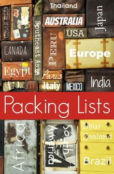 Travel Fashion Girl offers you packing lists for international destinations that you can customize to meet your own unique needs and style.