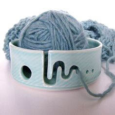 Yarn Bowl for Knitters and Crocheters in by Citybytheseaceramics. I WANT THIS!!!
