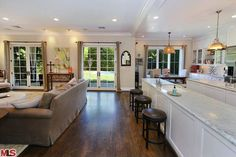 Open kitchen to family room.