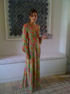Becca Gordon looking gorgeous in Beulah's Poppy dress