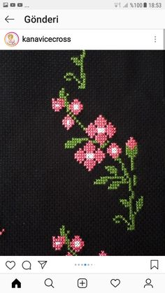 Cross Stitch Rose, Prayer Rug, Flower Art, Stitch Patterns, Flowers, Hand Embroidery Stitches, Crochet Flowers, Fabric Flowers, Table Toppers