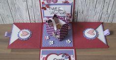 Überraschungsbox zum Muttertag Einkaufstasche Explosionsbox Geschenkgutschein Geldgeschenk Geburtstag Einkaufsgutschein