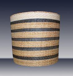 Lisa Telford | 'Work Basket'. Haida.  Red and yellow cedar bark, black dye