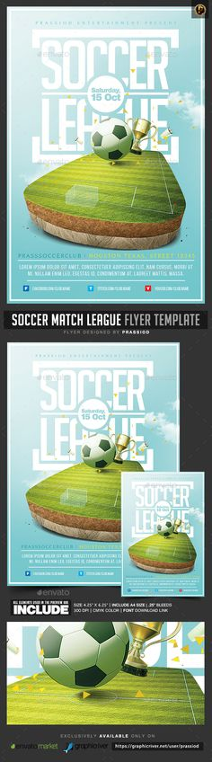 Soccer Tournament Flyer | Flyer Template, Font Logo And Logos