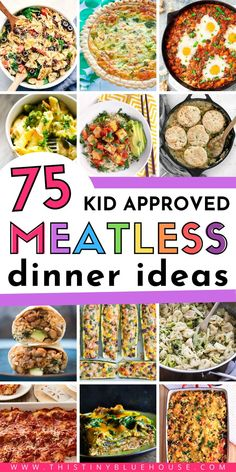 Here are 75 delicious and hearty meatless meals that even the carnivore in the family will love. These recipe ideas are easy, budget friendly and above all delicious meatless meals | meatless meals for meat eater | budget friendly recipes | easy dinner ideas | quick dinner ideas | busy weeknight dinner ideas | vegetarian meals | vegetarian meal ideas | vegetarian dinner ideas | vegetarian dinner recipes
