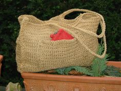 Häkeltasche aus Paketschnur / Crocheted bag made of parcel twine Upcycling Diy Kleidung, Clutch, Shoe Storage, Twine, Bag Making, Nike Shoes, Upcycle, Reusable Tote Bags, Lederhosen