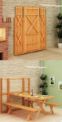 there are a lot new folding furniture elements that will come to that place. These folding furniture ideas are designed to make your living Folding Furniture, Space Saving Furniture, Diy Furniture, Furniture Design, Kitchen Furniture, Furniture Plans, Luxury Furniture, Murphy Furniture, Bedroom Furniture