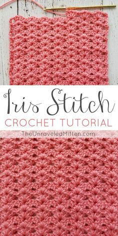 Iris Stitch Crochet Tutorial | The Unraveled Mitten | Use this easy shell stitch for your next crochet baby blanket, afghan, scarf or sweater. #crochetsitch #crochet