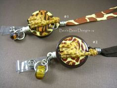AFRICAN GIRAFFES  Retractable Badge by BeasBuzzDesigns on Etsy, $20.00