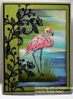 Flourished Flamingo – Stampin' Up! Card