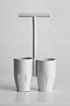 "Ricky Swallow [Australia] (b 1974) ~ ""Cups/Caddy"", 2011. Patinated Bronze (30.5 x 17 x 7.5 cm). | #art #sculpture #installation #conceptual #assemblage #minimalart"