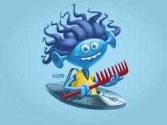 Персонаж Косматик для детского шампуня, который помогает с непослушными волосами