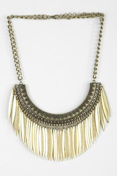 Metallic Petals Statement Necklace Visit www.thestatementnecklace.com for styles like this and more!
