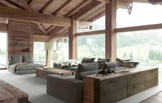 Contemporary Chalet With Rustic Atmosphere rustic contemporary interior design Modern Rustic Homes, Modern Rustic Decor, Rustic Contemporary, Contemporary Interior Design, Modern Rustic Interiors, Beautiful Interiors, Modern Interior, Rustic Design, Interior Ideas