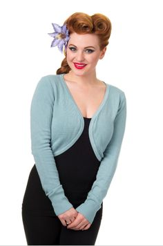 Trash Monkey ** BANNED - Flickers Cardigan in Pastel Blue